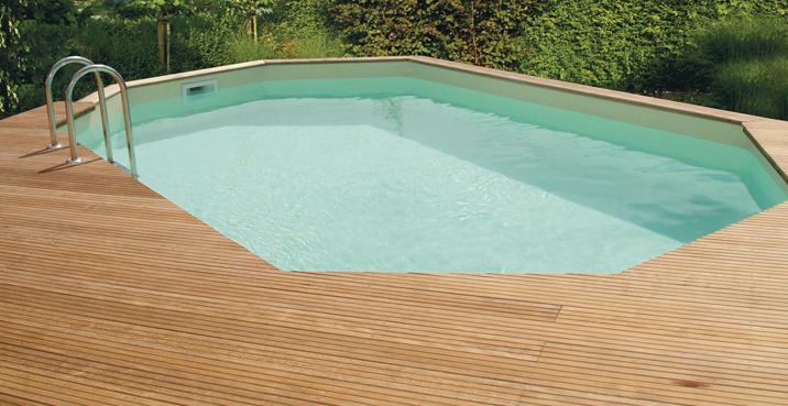 Houten zwembaden with opbouw zwembad laten plaatsen for Inbouw zwembad rechthoek