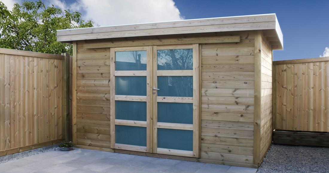 Waar sober design tuinhuis kopen exterior living for Cabane de jardin sur mesure