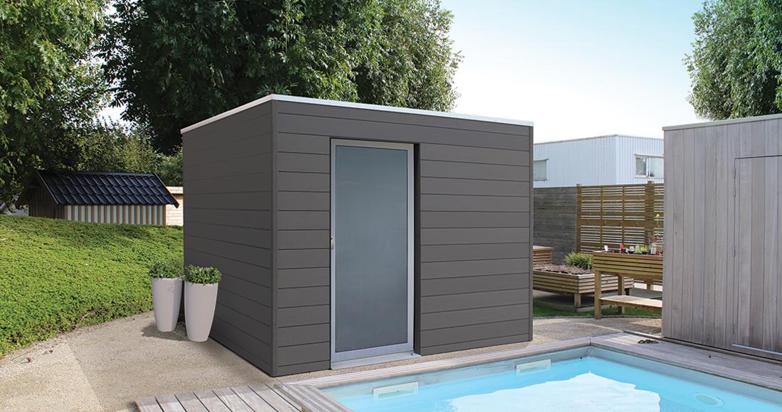 pas mal 2ede8 e9f6e Où acheter un abri de jardin moderne en bois composite ...